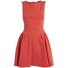 Buy Almari Panel Gathered Ponti Dress, Orange Online at johnlewis.com