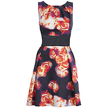 Buy Almari Printed Full Circle Dress, Coral Online at johnlewis.com