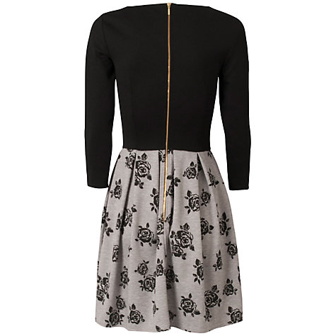 Buy Closet Rose Print Dress, Grey Online at johnlewis.com