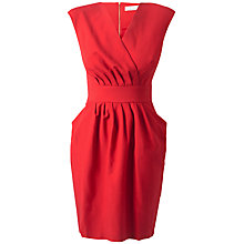 Buy Closet Pleated Dress, Red Online at johnlewis.com