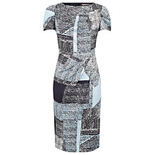 Buy Planet Square Pattern Print Shift Dress, Blue Online at johnlewis.com