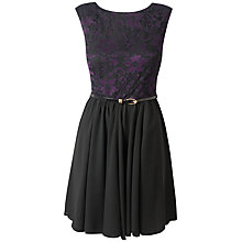 Buy Almari Lace Top Gathered Dress, Purple Online at johnlewis.com