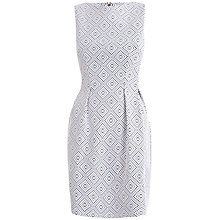 Buy Almari Jacquard Sleeveless Dress, White Online at johnlewis.com