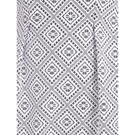 Buy Almari Jaquard Sleeveless Dress, White Online at johnlewis.com