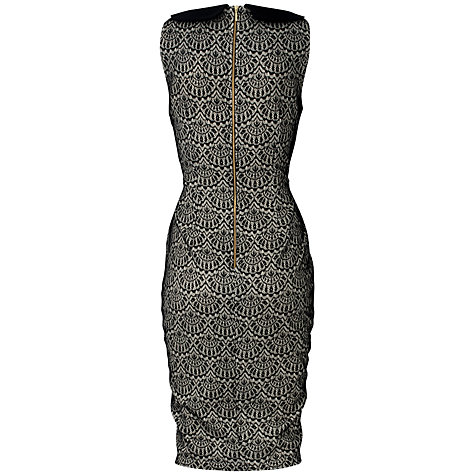 Buy Almari Lace Collar Dress, Black Online at johnlewis.com