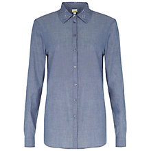 Buy NW3 by Hobbs Flower Collar Shirt, Chambray Online at johnlewis.com