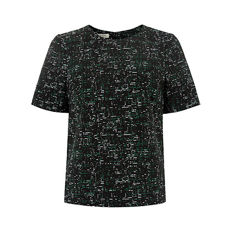 Buy Hobbs Sadie Top, Green Online at johnlewis.com