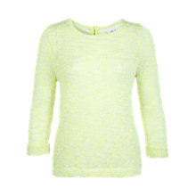 Buy Miss Selfridge Neon Slubby Jumper, Yellow Online at johnlewis.com