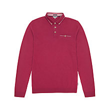 Buy Ted Baker Fleamar Ribstart Long Sleeve Polo Top Online at johnlewis.com