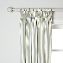 Buy John Lewis Ticking Stripe Lined Pencil Pleat Curtains, Sage Online at johnlewis.com