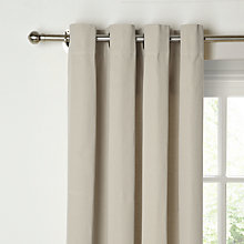 Buy John Lewis Cotton Rib Lined Eyelet Curtains, Soft Clay Online at johnlewis.com