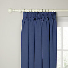 Buy John Lewis Cotton Rib Lined Pencil Pleat Curtains Online at johnlewis.com
