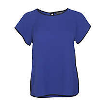 Buy Miss Selfridge Contrast Binding Top, Blue Online at johnlewis.com