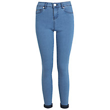 Buy Miss Selfridge Ultra Soft Jeans, Short Length, Bleached Denim Online at johnlewis.com