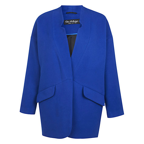 Buy Miss Selfridge Notch Boyfriend Coat, Blue Online at johnlewis.com