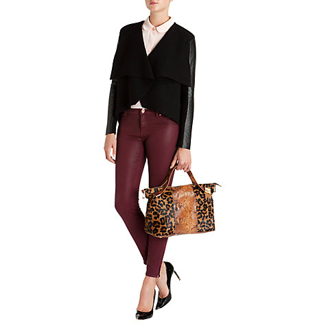 Buy Ted Baker Gaeton Leather Trim Jacket Online at johnlewis.com
