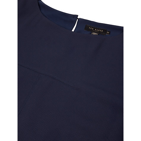 Buy Ted Baker Briele Box Fit Top, Navy Online at johnlewis.com