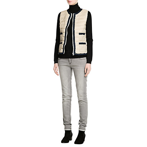 Buy Mango Quilted Gilet, Light Beige Online at johnlewis.com