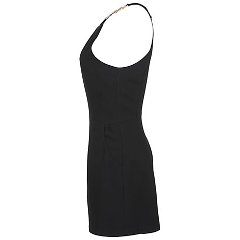 Buy Miss Selfridge Chain Detail Playsuit, Black Online at johnlewis.com