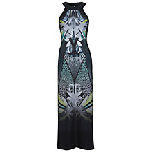 Buy Miss Selfridge Print Panel Maxi Dress, Black Online at johnlewis.com