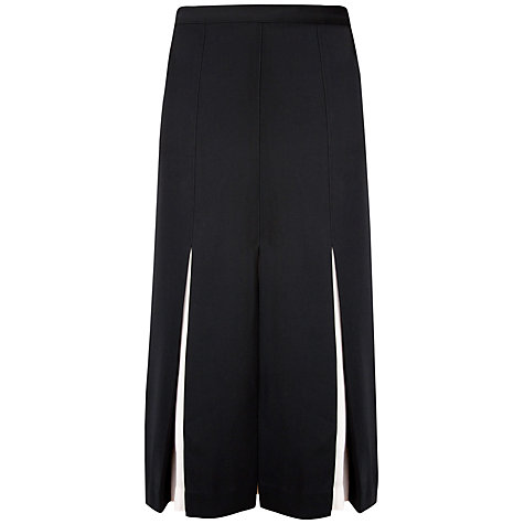 Buy Ted Baker Celect Contrast Midi Skirt, Black Online at johnlewis.com
