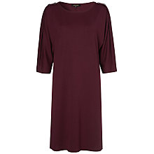 Buy Jaeger Button Shoulder Jersey Dress Online at johnlewis.com