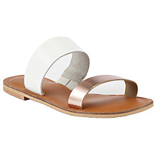 Buy Collection WEEKEND by John Lewis Jersey Two Strap Leather Sandals Online at johnlewis.com