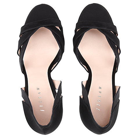 Buy Jigsaw Eva Sandals, Black Online at johnlewis.com