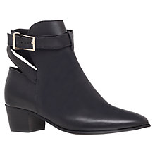 Buy KG Kurt Geiger Saint Leather Wraparound Strap Ankle Boots, Black Online at johnlewis.com