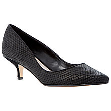 Buy Dune Alfa Snakeskin Print Court Shoes, Black Reptile Online at johnlewis.com