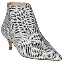 Buy L.K. Bennett Laurie Spotted Lizard Print Leather Shoe Boots, Black / White Online at johnlewis.com
