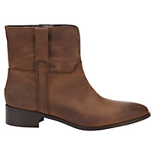 Buy Jigsaw Gada Leather Ankle Boot, Brown Online at johnlewis.com