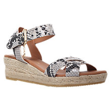 Buy Kurt Geiger Libby Sandals, Black / White Online at johnlewis.com
