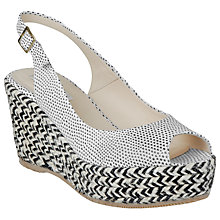 Buy L.K. Bennett April Slingback Espadrille Sandals, Black Online at johnlewis.com