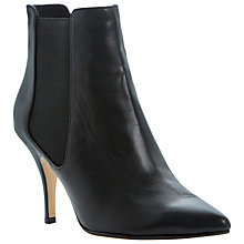 Buy Dune Nightlife Leather Stiletto Chelsea Boots, Black Online at johnlewis.com