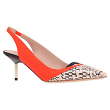 Buy Kurt Geiger Carley Leather Slingback Court Shoes Online at johnlewis.com