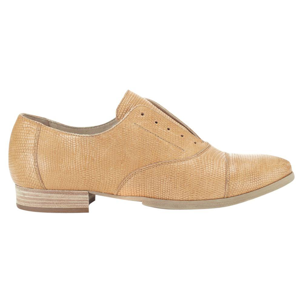 Jigsaw Kiki Leather Brogue Shoes, Tan
