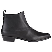 Buy Whistles Marisa Ankle Boots, Black Online at johnlewis.com