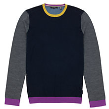 Buy Ted Baker Baseball Colour Blocked Top, Navy Online at johnlewis.com
