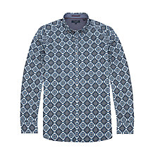 Buy Ted Baker Tuffy Tile Print Shirt, Navy Online at johnlewis.com