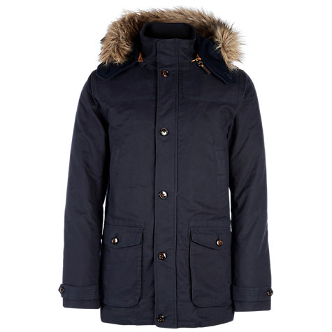 Buy Ted Baker Wildery Parka Jacket, Navy Online at johnlewis.com