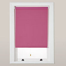 Buy little home at John Lewis Plain Blackout Roller Blinds, Pink Online at johnlewis.com
