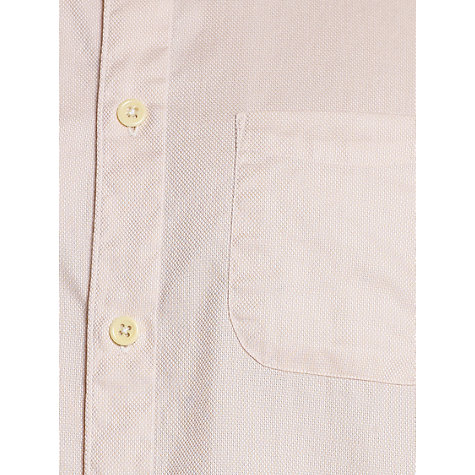 Buy Jigsaw Oxford Round Collar Long Sleeve Shirt, Pale Pink Online at johnlewis.com