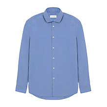 Buy Jigsaw Regular Fit Contrast Stitch Shirt, Chambray Online at johnlewis.com