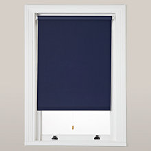 Buy little home at John Lewis Plain Blackout Roller Blinds, Dark Blue Online at johnlewis.com