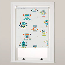 Buy little home at John Lewis Robotica Robots and Pipes Blackout Roller Blinds Online at johnlewis.com