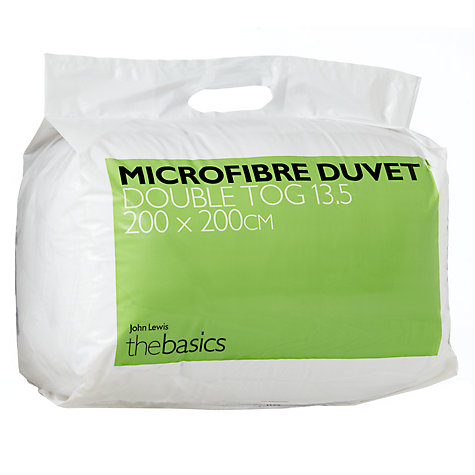 Buy John Lewis The Basics Microfibre Duvets, 13.5 Tog Online at johnlewis.com