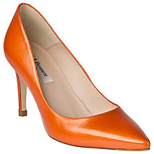 Buy L.K. Bennett Floret Patent Court Shoes, Orange Online at johnlewis.com