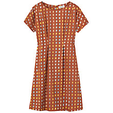 Buy Toast Zaio Ikat Dress, Lemon/Cornflower Online at johnlewis.com