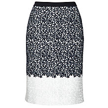 Buy BOSS Embroidered Ildeco Skirt, White Online at johnlewis.com